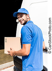delivery man with box