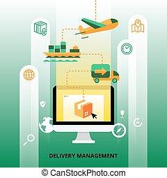 Delivery Management Illustration