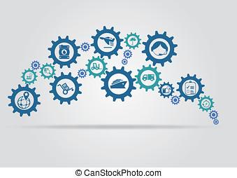 Delivery mechanism concept - Delivery mechanism vector...