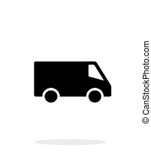 Delivery Minibus icon on white background.