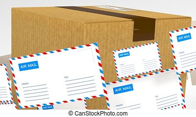 Delivery of correspondence worldwide. Mail and parcel...