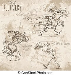 Delivery of different food