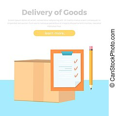 Delivery of Goods Banner. Packing Product Design