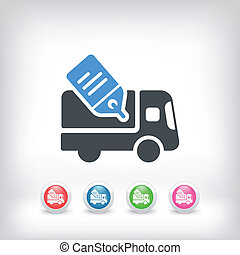 Delivery or shipping concept icon