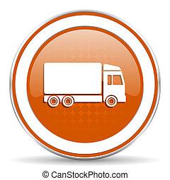 delivery orange icon truck sign