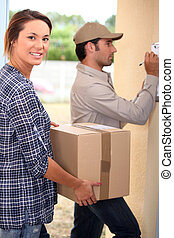 Delivery package collecting