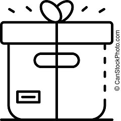 Delivery parcel icon, outline style