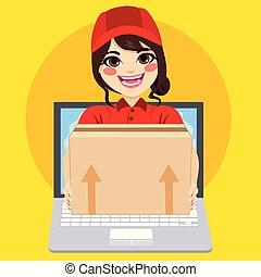 Delivery Parcel Online Woman