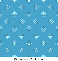 Delivery pattern vector seamless blue