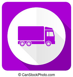 delivery pink flat icon truck sign