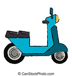 delivery scooter motor transport icon