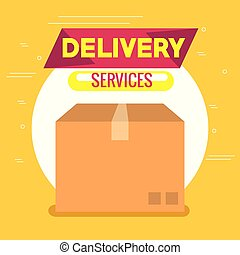 delivery service box carton