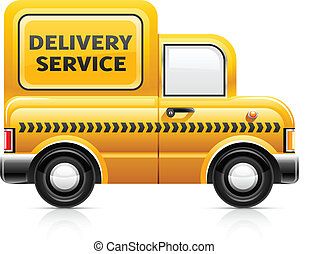 delivery service car vector illustration isolated on white ...