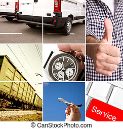 delivery - service concept made from my photos, special...