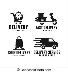 Delivery Service fast and free Logos