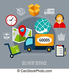 Delivery Service Flat Composition