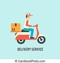 Delivery service illustration