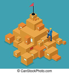 Delivery Service Isometric Concept