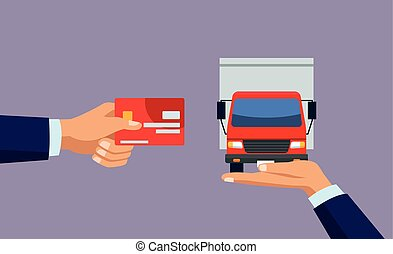 delivery service online with credit card and truck