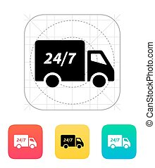 Delivery service seven days a week icon.