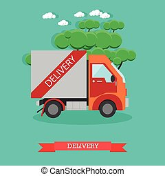 Delivery service vector illustration in flat style