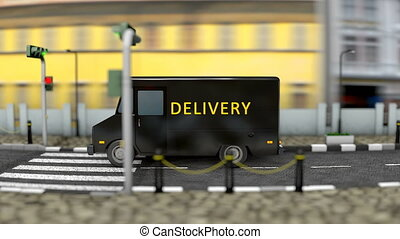 Delivery service vehicle