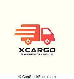 delivery services logo design. courier logo design template icon vector