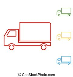 Delivery sign line illustration
