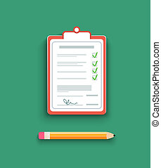 Delivery signature clipboard in flat design