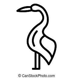 Delivery stork icon, outline style