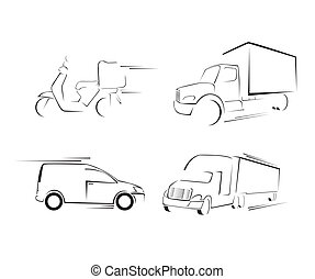 Delivery Transportation Set Collection