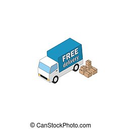 Delivery truck and carton boxes