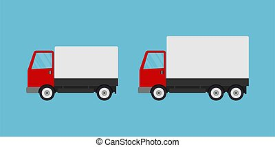 Delivery truck cars icon big and small size