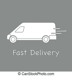 Delivery truck. Fast and convenient shipping.