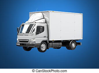 Delivery truck icon - 3d courier service delivery truck icon...