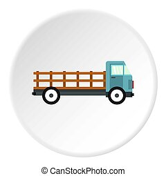 Delivery truck icon circle
