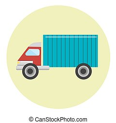 Delivery truck icon.