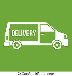 Delivery truck icon green
