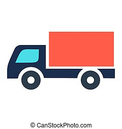 Delivery truck icon isolated on white background. Vector simple illustration.