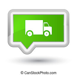 Delivery truck icon prime soft green banner button