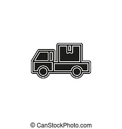 delivery truck icon - shipping symbol - free delivery sign