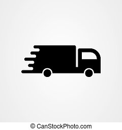 Delivery truck icon. simple flat vector illustration.