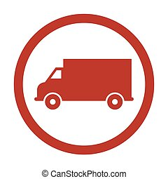 Delivery truck icon vector.