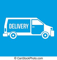 Delivery truck icon white