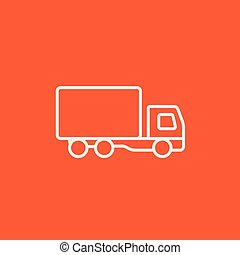 Delivery truck line icon.