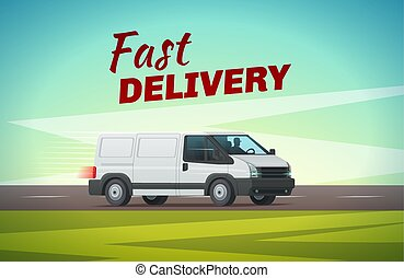Delivery truck or van for transportation design