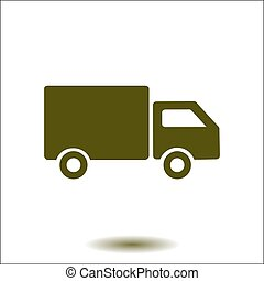 Delivery truck sign icon.