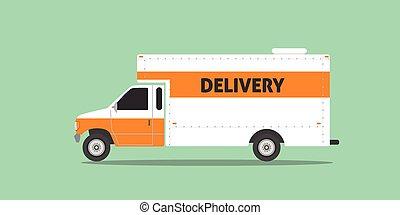 delivery truck van service car transportation illustration