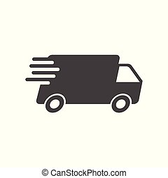 Delivery truck vector illustration. Fast delivery service shipping icon. Simple flat pictogram for business, marketing or mobile app internet concept on white background.