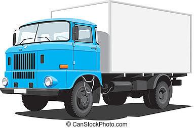 Delivery truck - Vector isolated delivery truck on white...